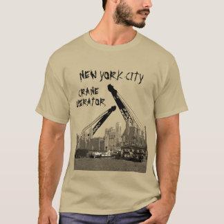 Camiseta Skyline dos anos 30 do operador de guindaste da