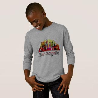Camiseta Skyline dos desenhos animados de Los Angeles