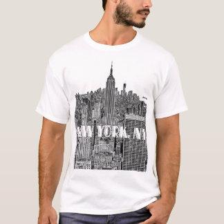 Camiseta Skyline gravada NYC do olhar de cima de