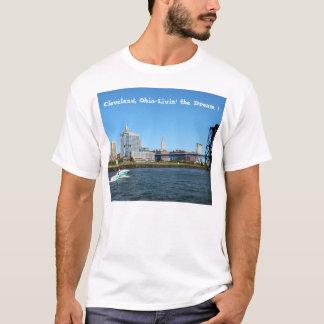 """Camiseta Skyline """"Livin do rio de Cleveland"""" o t-shirt"""