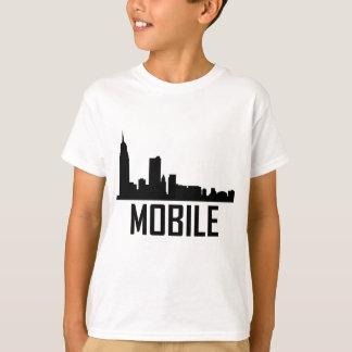 Camiseta Skyline móvel da cidade de Alabama
