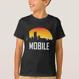Camiseta Skyline móvel do por do sol de Alabama