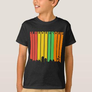 Camiseta Skyline retro de Albuquerque nanômetro do estilo