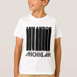 Camiseta Skyline retro de Ann Arbor Michigan