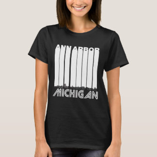 Camiseta Skyline retro de Ann Arbor Michigan