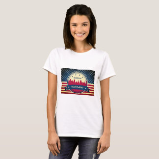 Camiseta Skyline retro de Baltimore Maryland