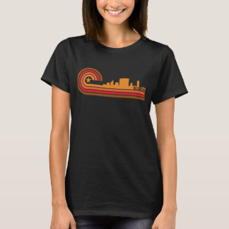 Camiseta Skyline retro de Beaumont Texas do estilo