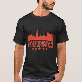 Camiseta Skyline retro de Bruxelas