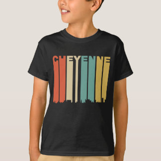 Camiseta Skyline retro de Cheyenne Wyoming do estilo dos