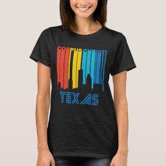 Camiseta Skyline retro de Corpus Christi Texas do estilo