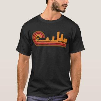 Camiseta Skyline retro de Corpus Christi Texas do estilo