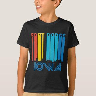 Camiseta Skyline retro de Dodge Iowa do forte do estilo dos