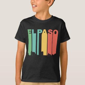 Camiseta Skyline retro de El Paso Texas do estilo dos anos