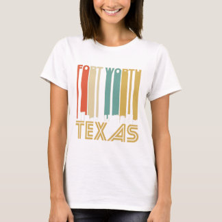 Camiseta Skyline retro de Fort Worth Texas
