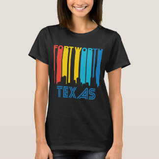 Camiseta Skyline retro de Fort Worth Texas do estilo dos