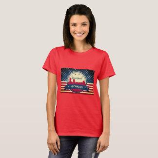 Camiseta Skyline retro de Grand Rapids Michigan