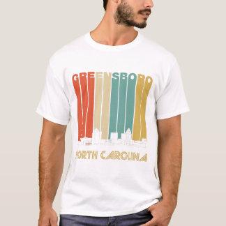 Camiseta Skyline retro de Greensboro North Carolina