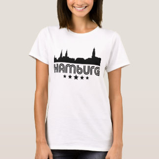 Camiseta Skyline retro de Hamburgo