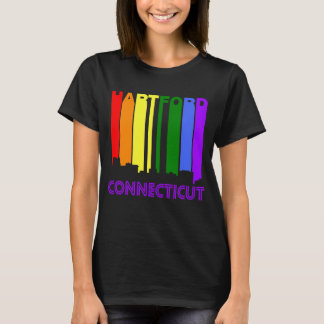 Camiseta Skyline retro de Hartford Connecticut do estilo
