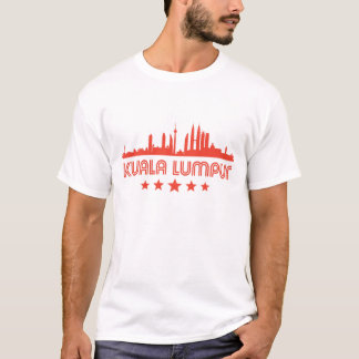 Camiseta Skyline retro de Kuala Lumpur
