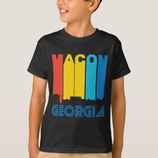 Camiseta Skyline retro de Macon Geórgia do estilo dos anos