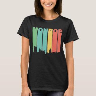 Camiseta Skyline retro de Monroe Louisiana do estilo dos