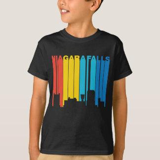 Camiseta Skyline retro de Niagara Falls New York do estilo
