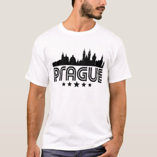 Camiseta Skyline retro de Praga