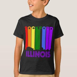 Camiseta Skyline retro de Rockford Illinois do estilo dos
