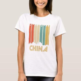 Camiseta Skyline retro de Shanghai