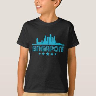 Camiseta Skyline retro de Singapore