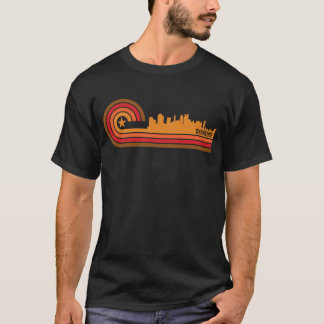 Camiseta Skyline retro de Siracusa New York do estilo