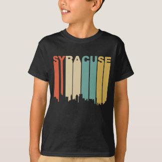 Camiseta Skyline retro de Siracusa New York do estilo dos