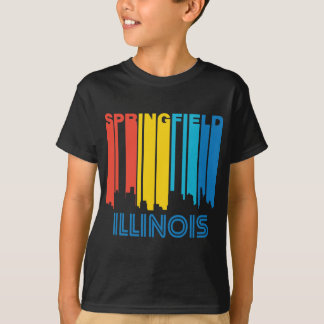 Camiseta Skyline retro de Springfield Illinois do estilo