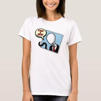 Camiseta Slenderman em seus t-shirt/camisolas do