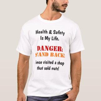 Camiseta Slogan de advertência engraçado louco louco da