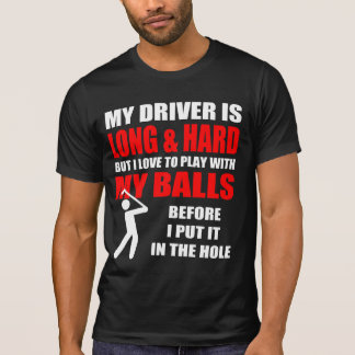 Camiseta Slogan divertido do golfe
