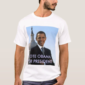 Camiseta small_obama_image, VOTO OBAMA PARA O PRESIDENTE