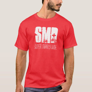 Camiseta SMD, T viril super do gajo