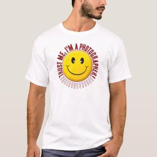 Camiseta Smiley da confiança do fotógrafo
