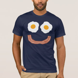 Camiseta Smiley do bacon dos ovos