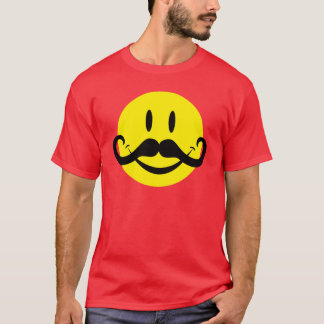 Camiseta Smiley do bigode do guiador