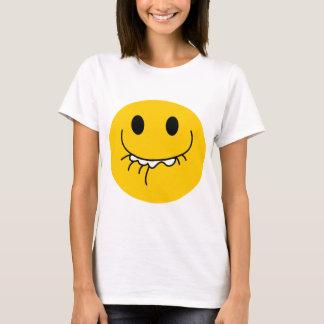 Camiseta Smiley face amarelo de riso suprimido