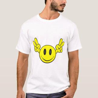 Camiseta Smiley face da paz