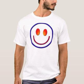 Camiseta Smiley face do inclinação do arco-íris