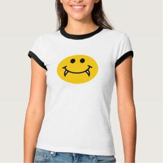 Camiseta Smiley face do vampiro com presas