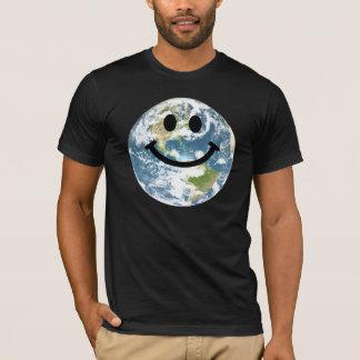 Camiseta Smiley face feliz da terra