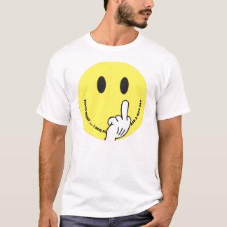 Camiseta smiley face que dá o dedo