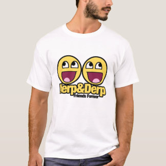 Camiseta Smiley impressionante Herp e Derp