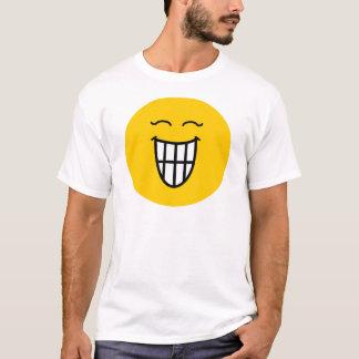Camiseta Smiley que ri com sorriso toothy